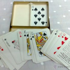 Barajas de cartas: HAMILTON. ESTUCHE CON UNA BARAJAS DE CARTAS PLASTIFICADAS.ESTADOS UNIDOS PLAYING CARD COMPANY. Lote 29378238