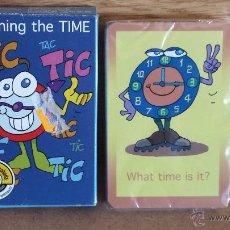 Barajas de cartas: BARAJA INFANTIL VARITEMAS / LEARNING THE TIME / 35 CARTAS / PRECINTADA CON CAJA ORIGINAL. Lote 174082348