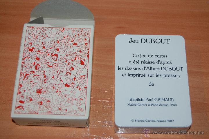 Barajas de cartas: RARA BARAJA POKER FRANCESA 54 CARTAS JEU DUBOUT GRIMAUD - Foto 2 - 55037021