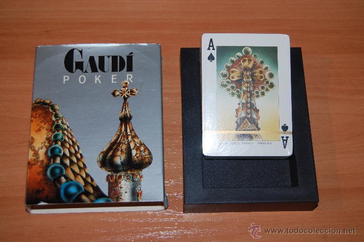 Barajas de cartas: RARA BARAJA POKER 54 CARTAS GAUDI POKER - Foto 2 - 55037379