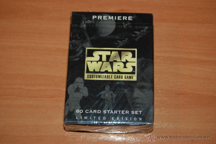 JUEGO DE CARTAS STAR WARS 60 CARTAS SET INICIACION EDICION LIMITADA CUSTOMIZABLE CARD GAME (Juguetes y Juegos - Cartas y Naipes - Otras Barajas)