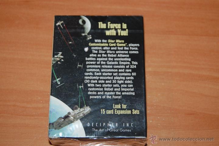 Barajas de cartas: JUEGO DE CARTAS STAR WARS 60 CARTAS SET INICIACION EDICION LIMITADA CUSTOMIZABLE CARD GAME - Foto 2 - 55038208