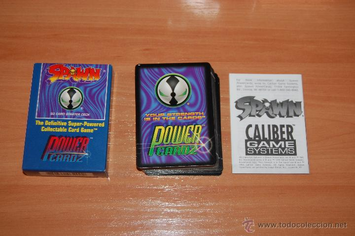 Barajas de cartas: JUEGO DE CARTAS 50 CARTAS SET INICIACION SPAWN POWER CARDZ - Foto 2 - 55038778