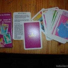 Barajas de cartas: DISNEY PRINCESS JUEGO DE LAS FAMILIAS CARTA MUNDI EN CASTELLANO CJ 2. Lote 55154947
