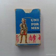 Barajas de cartas: BARAJA INFANTIL -UNIFORMES MILITARES- AÑO 1970. Lote 55169169