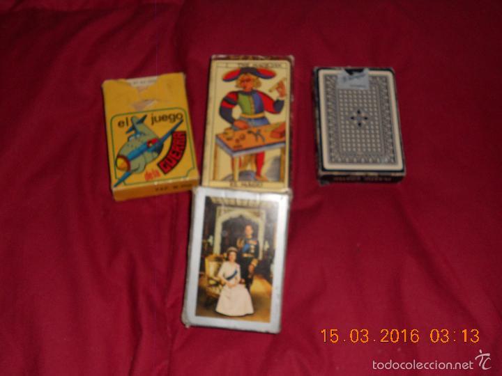 Barajas de cartas: LOTE DE 4 JUEGOS DE CDARTAS - Foto 8 - 55236961