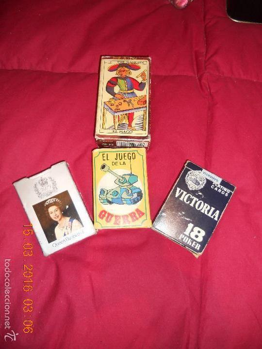 LOTE DE 4 JUEGOS DE CDARTAS (Juguetes y Juegos - Cartas y Naipes - Barajas de Póker)