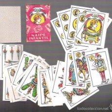Barajas de cartas: ANTIGUA BARAJA MINI, NAIPE INFANTIL, 40 CARTAS, PRECINTADA Y SIN ESTRENAR, 3,7 X 5,8 CM.. Lote 90232003