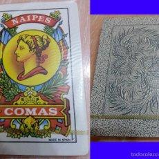 Barajas de cartas: BARAJA ESPAÑOLA - 40 CARTAS - NAIPES COMAS - ANTIGÜA - NUEVA PRECINTADA - TRASERA AZUL. Lote 52616963