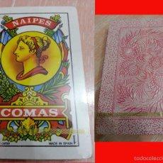 Barajas de cartas: BARAJA ESPAÑOLA - 40 CARTAS - NAIPES COMAS - ANTIGÜA - NUEVA PRECINTADA - TRASERA ROJA. Lote 87184210