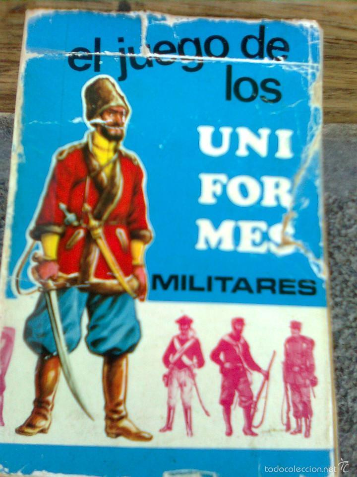 BARAJA INFANTIL. EL JUEGO DE LOS UNIFORMES MILITARES. COMPLETA. EDICIONES RECREATIVAS. 1970 (Juguetes y Juegos - Cartas y Naipes - Barajas Infantiles)