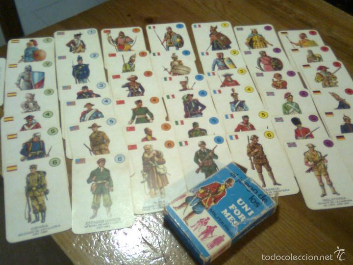 Barajas de cartas: BARAJA INFANTIL. EL JUEGO DE LOS UNIFORMES MILITARES. COMPLETA. EDICIONES RECREATIVAS. 1970 - Foto 2 - 55781690