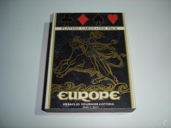 BARAJA CARTAS, HERACLIO FOURNIER - EUROPE. (Juguetes y Juegos - Cartas y Naipes - Barajas de Póker)
