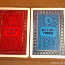 Barajas de cartas: LOTE 2 BARAJAS LOTERIA NACIONAL ANTIGUAS PRECINTADAS POKER Y ESPAÑOLA 40 LEER . Lote 55816978