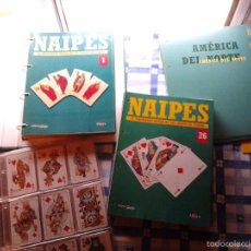 Barajas de cartas: NAIPES. EL FASCINANTE MUNDO DE LOS JUEGOS DE CARTAS (1997, ALTAYA-FOURNIER)-COMPLETA 55 FASCICULOS. Lote 55868880