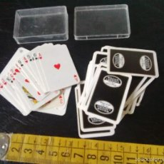 Barajas de cartas: MINI BARAJA DE POKER - WILLIAM LAWSON'S - CON ESTUCHE PLASTICO. Lote 55998261