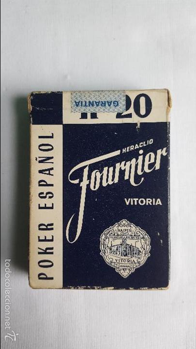 BARAJA CARTAS POKER N 20 FOURNIER PRECINTADA (Juguetes y Juegos - Cartas y Naipes - Otras Barajas)