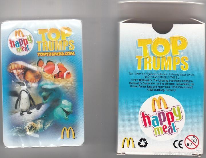 BARAJA INFANTIL TOP TRUMPS DE MAC DONALS. CARTAS ENVUELTAS EN PAPEL (Juguetes y Juegos - Cartas y Naipes - Barajas Infantiles)