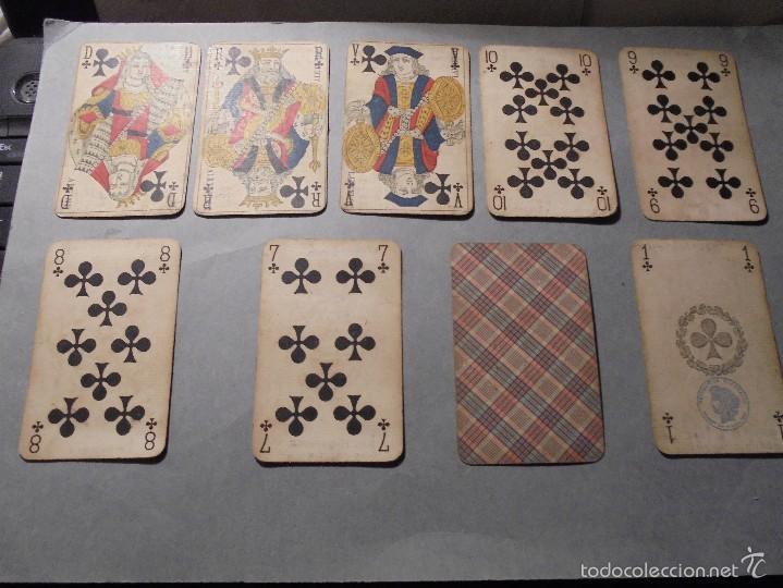 ANTIGUA BARAJA FRANCESA S. XIX PARA JUGAR AL JUEGO DEL BELOTE , PIQUET , MANILLE 32 CARTAS COMPLETA (Juguetes y Juegos - Cartas y Naipes - Baraja Española)