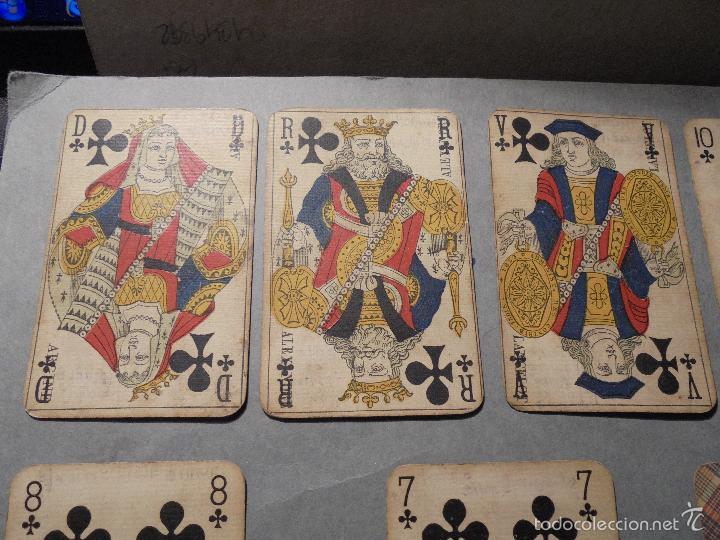 Barajas de cartas: ANTIGUA BARAJA FRANCESA S. XIX PARA JUGAR AL JUEGO DEL BELOTE , PIQUET , MANILLE 32 CARTAS COMPLETA - Foto 2 - 56084766