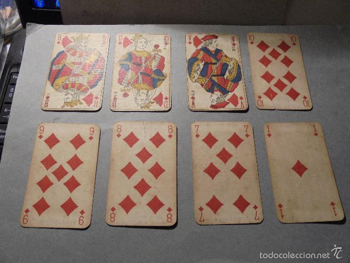 Barajas de cartas: ANTIGUA BARAJA FRANCESA S. XIX PARA JUGAR AL JUEGO DEL BELOTE , PIQUET , MANILLE 32 CARTAS COMPLETA - Foto 4 - 56084766