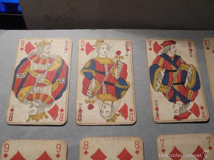 Barajas de cartas: ANTIGUA BARAJA FRANCESA S. XIX PARA JUGAR AL JUEGO DEL BELOTE , PIQUET , MANILLE 32 CARTAS COMPLETA - Foto 5 - 56084766
