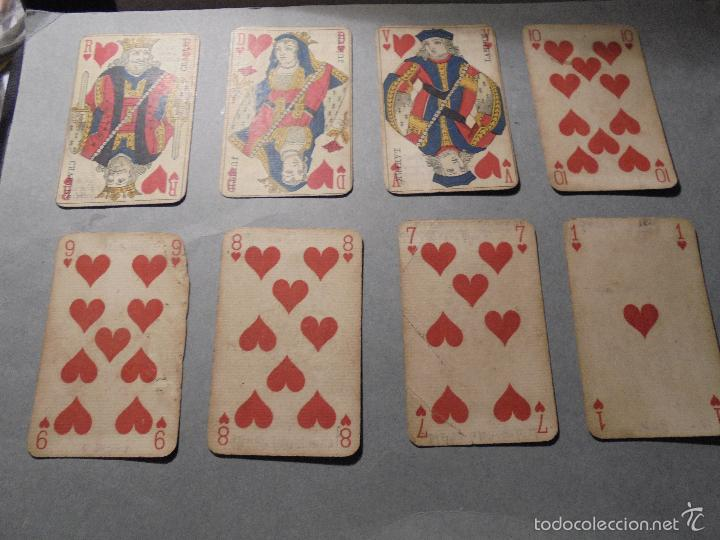 Barajas de cartas: ANTIGUA BARAJA FRANCESA S. XIX PARA JUGAR AL JUEGO DEL BELOTE , PIQUET , MANILLE 32 CARTAS COMPLETA - Foto 6 - 56084766