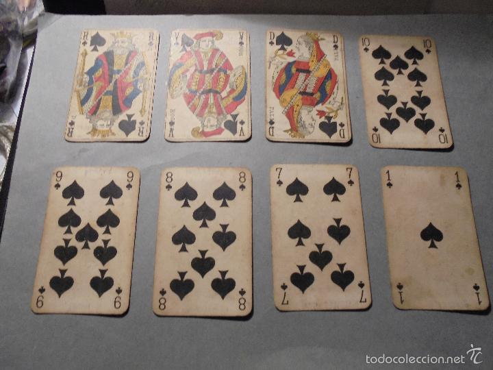 Barajas de cartas: ANTIGUA BARAJA FRANCESA S. XIX PARA JUGAR AL JUEGO DEL BELOTE , PIQUET , MANILLE 32 CARTAS COMPLETA - Foto 8 - 56084766