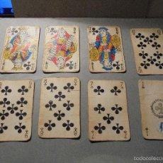 Barajas de cartas: ANTIGUA BARAJA FRANCESA S. XX PARA JUGAR AL JUEGO DEL BELOTE , PIQUET , MANILLE 32 CARTAS COMPLETA. Lote 56085013