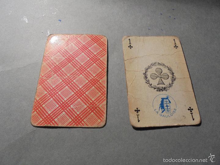 Barajas de cartas: ANTIGUA BARAJA FRANCESA S. XX PARA JUGAR AL JUEGO DEL BELOTE , PIQUET , MANILLE 32 CARTAS COMPLETA - Foto 2 - 56085013