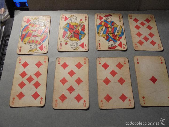 Barajas de cartas: ANTIGUA BARAJA FRANCESA S. XX PARA JUGAR AL JUEGO DEL BELOTE , PIQUET , MANILLE 32 CARTAS COMPLETA - Foto 3 - 56085013