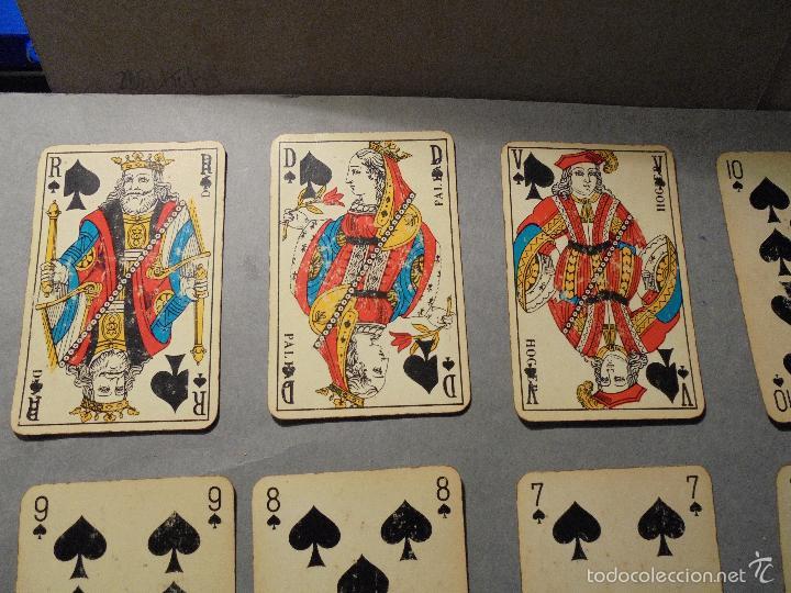 Barajas de cartas: ANTIGUA BARAJA FRANCESA S. XX PARA JUGAR AL JUEGO DEL BELOTE , PIQUET , MANILLE 32 CARTAS COMPLETA - Foto 6 - 56085013