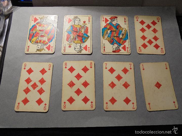Barajas de cartas: ANTIGUA BARAJA FRANCESA S. XX PARA JUGAR AL JUEGO DEL BELOTE , PIQUET , MANILLE 32 CARTAS COMPLETA - Foto 3 - 56117320