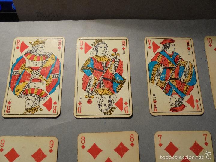 Barajas de cartas: ANTIGUA BARAJA FRANCESA S. XX PARA JUGAR AL JUEGO DEL BELOTE , PIQUET , MANILLE 32 CARTAS COMPLETA - Foto 4 - 56117320