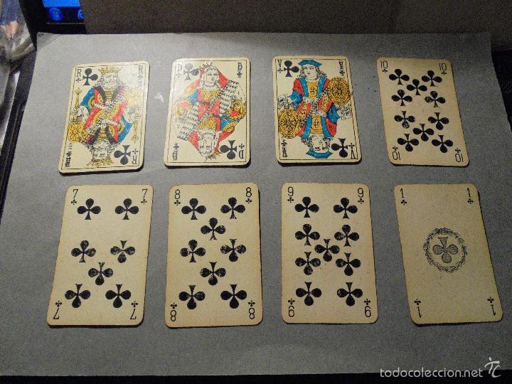 Barajas de cartas: ANTIGUA BARAJA FRANCESA S. XX PARA JUGAR AL JUEGO DEL BELOTE , PIQUET , MANILLE 32 CARTAS COMPLETA - Foto 5 - 56117320