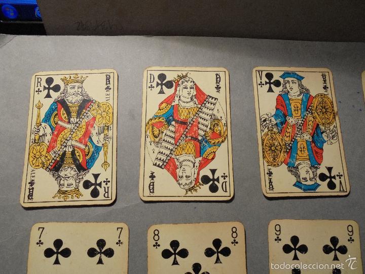 Barajas de cartas: ANTIGUA BARAJA FRANCESA S. XX PARA JUGAR AL JUEGO DEL BELOTE , PIQUET , MANILLE 32 CARTAS COMPLETA - Foto 6 - 56117320