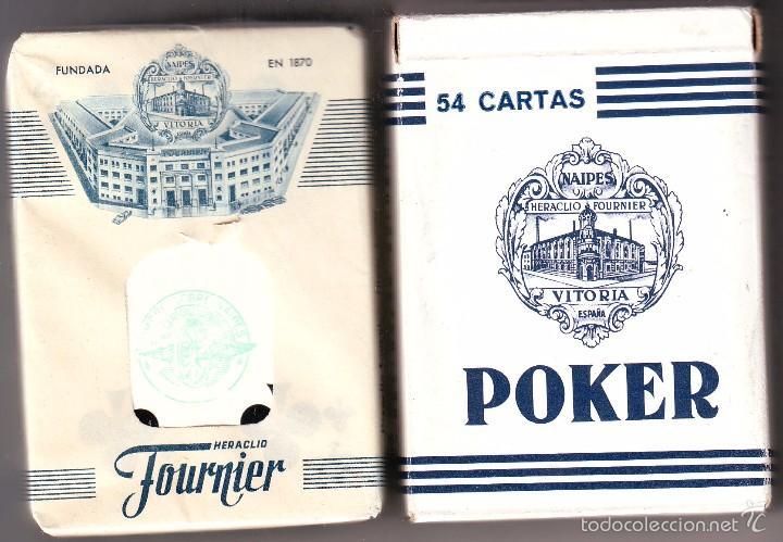 BARAJA DE CARTAS DE POKER HERACLIO FOURNIER SIN ESTRENAR PUBLICITARIA (Juguetes y Juegos - Cartas y Naipes - Barajas de Póker)