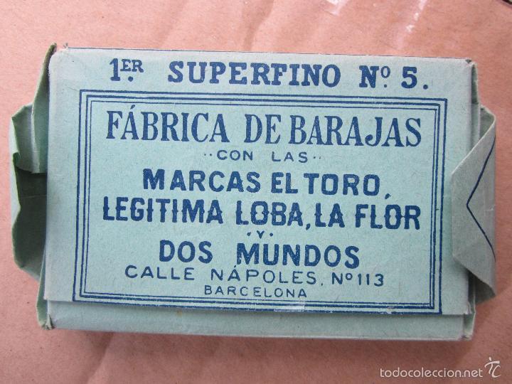 Barajas de cartas: la hispano americana marcas el toro legitima loba, la flory dos mundos 1er superfino n.5, baraja ant - Foto 8 - 56171846