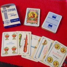 Barajas de cartas: BARAJA, NAIPES, 1962, FOURNIER, 50 CARTAS, 2 COMODINES, BBV, VER FOTOS.. Lote 56310103