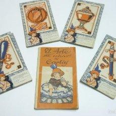 Barajas de cartas: CHOCOLATES NELIA. BARAJA COMPLETA + LIBRITO EL ARTE DE ECHAR LAS CARTAS. ORIGINAL. AÑOS 1930S. Lote 56365674
