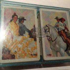 Barajas de cartas: BARAJA DOBLE DE POKER NEGRA Y ROJA. Lote 56401888
