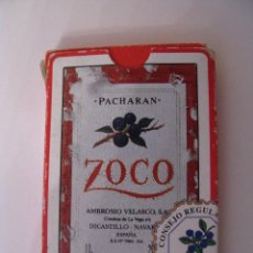 Barajas de cartas: BARAJA DE NAIPES DE FOURNIER PACHARAN ZOCO AMBROSIO VELASCO NAVARRA. Lote 56531848