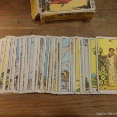 Barajas de cartas: CARTAS TAROT - THE RIDER TAROT DECK- THE MAGICIAN - ORIGINAL- COMPLETO. Lote 56560919