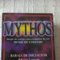 Barajas de cartas: MYTHOS, BARAJA DE INICIACION EDICION LIMITADA. JUEGO DE CARTAS COLECCIONABLE DE LOS MITOS DE CTHULHU. Lote 56704511