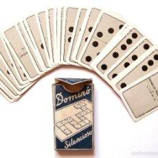 Barajas de cartas: JUEGO DOMINÓ SILENCIOSO DE NAIPES HIJOS DE HERACLIO FOURNIER. VITORIA. AÑOS 40 CON SU CAJA ORIGINAL. Lote 56800433