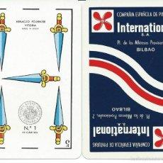 Barajas de cartas: BARAJA ESPAÑOLA PUBLICITARIA CIA PINTURAS INTERNACIONAL-FOURNIER-AÑOS 70. Lote 56806842