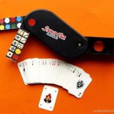 Barajas de cartas: MINI KIT DE CARTAS, FICHAS Y DADOS - SUPER FUN, POLYGAME - TAMAÑO 12X5X2,5 CM.. Lote 56838622