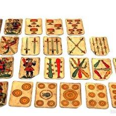 Barajas de cartas: 26 CARTAS DE BARAJA FRANCESA B. P. GRIMAUD - FORMATO DE NAIPES ESPAÑOLES - S. XIX. Lote 56874083