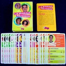 Barajas de cartas: LA BARAJA DE LOS FAMOSOS. COMPLETA. REVISTA SUPER POP. SIN USAR.. Lote 56958404