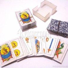 Barajas de cartas: CARTAS BARAJA ESPAÑOLA EN MINIATURA CON ESTUCHE DE PLASTICO. CLASICO DE KIOSCO / KIOSKO AÑOS 70. Lote 56961981